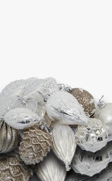 umalte julekuler i porselen